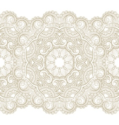 Golden seamless pattern with floral elements vector