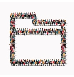 group people shape folder vector image