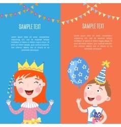 Happy birthday banners vector image vector image