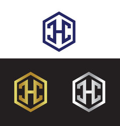 Letter H in polygon vector image vector image