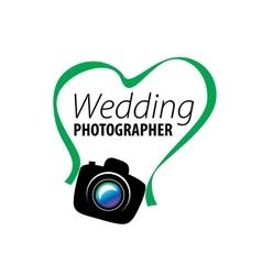 Logo wedding photographer vector