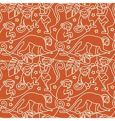 Monkeys seamless pattern vector image vector image