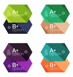 Option infographic templates vector image