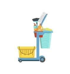 Professional clean up household equipment set vector