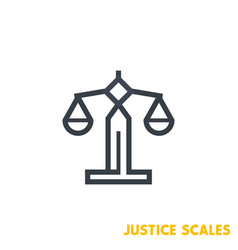 scales icon on white vector image