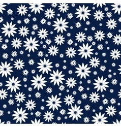 Simple and beauty flower seamless pattern vector