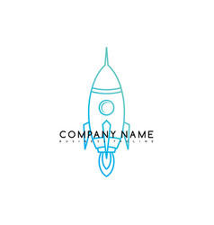 Space rocket shuttle brand logo template logotype vector