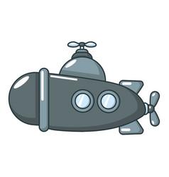 submarine sea icon cartoon style vector image vector image