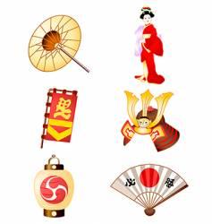 Symbols of japan culture vector