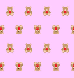 Teddy bear kids seamless pattern vector