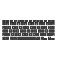 Black keyboard stroke qwerty vector
