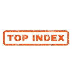 Top index rubber stamp vector