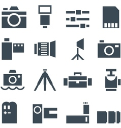 Set icons photo accessories vector