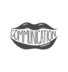 Sexy lips communication vector