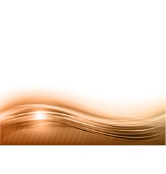 Wave abstract brown vector