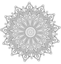 Decorative flower round ornament vector