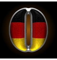 Germany metal figure o vector image