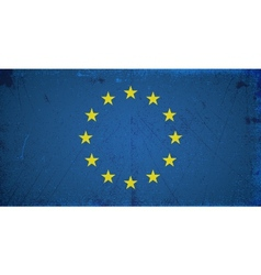 Grunge flags - europe union vector