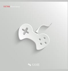 Video game icon - white app button vector