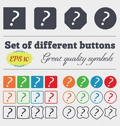 Question mark sign icon help symbol faq sign big vector
