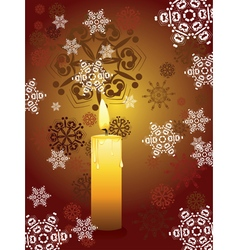 Candle and snowflakes vector