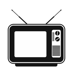 Retro tv simple icon vector