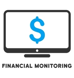 Financial monitoring icon with caption vector