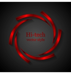 Abstract red metal logo design vector