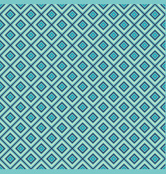 Blue rhombuses seamless pattern vector