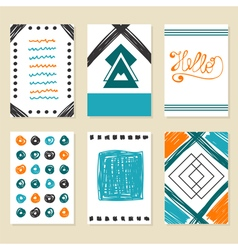 Collection of hand drawn cards Modern design for vector image