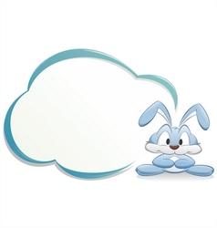 Cute cartoon bunny with frame vector