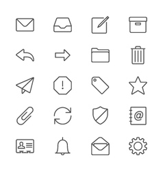 Email thin icons vector