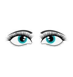 Female cartoon eyes icon vector