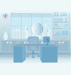 Modern room office interior vector