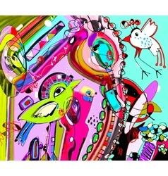 Original unique abstract digital contemporary vector