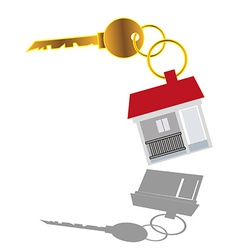Sell house key vector