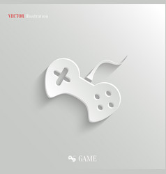 Video game icon - white app button vector