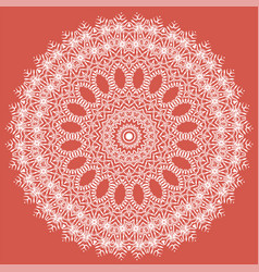 White texture oriental geometric ornament vector