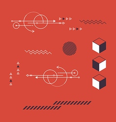 Abstract geometric modern retro style background vector