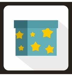 Box to perform tricks icon flat style vector