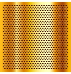 Golden perforated sheet vector