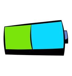 battery icon icon cartoon vector image