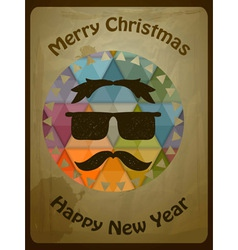 hipster christmas greeting card vector image