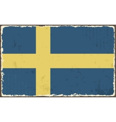 Swedish grunge flag vector image