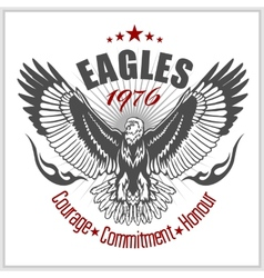 Vintage label eagle - retro emblem vector