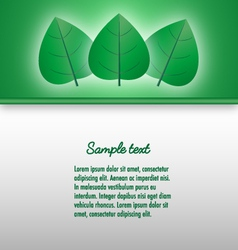 Presentation document template with glowing leaves vector