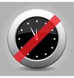 Gray chrome button - no clock vector