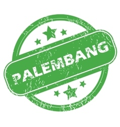 Palembang green stamp vector