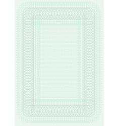 blank certificate template vector image