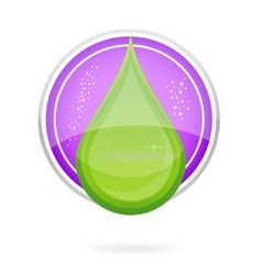 Energy nature drop sign eco green color vector